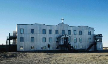 The Catholic Mission Hospital of St. Therese in Chesterfield Inlet, which contained 30 beds, was once the largest building in the Eastern Arctic. (PHOTO FROM WIKIPEDIA COMMONS)