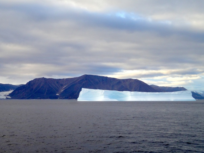 A giant iceberg off the coast of northern Baffin Island. (PHOTO BY JANE GEORGE)