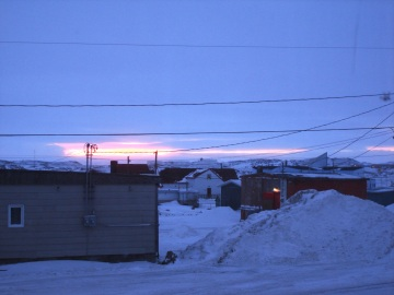 An Iqaluit March sunset. (PHOTO BY JANE GEORGE)