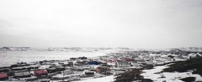 View over Iqaluit in the spring. (PHOTO BY JANE GEORGE)