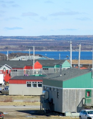 A view of Kuujjuaq down to the Koksoak River. (PHOTO BY JANE GEORGE)