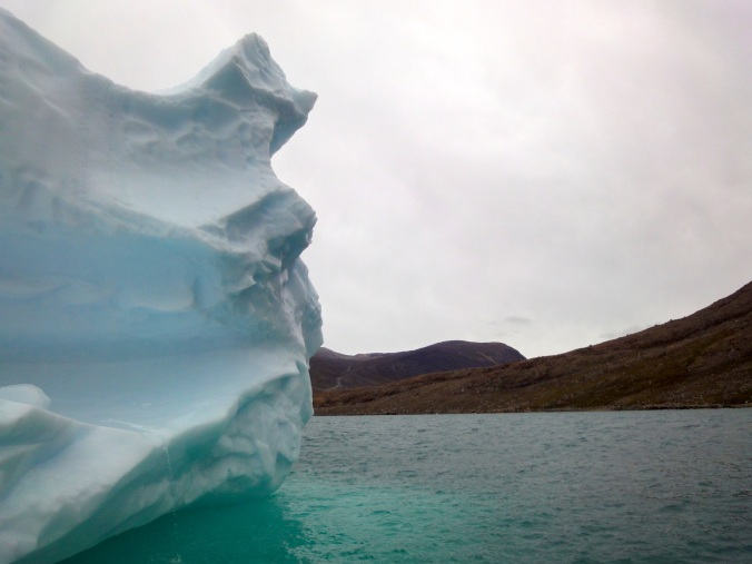 An iceberg melts in August off the shore of Baffin Island. (PHOTO BY JANE GEORGE)