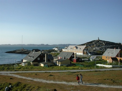 A view over to the Old Town of Nuuk, Greenland. (PHOTO BY JANE GEORGE)