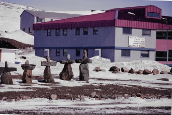 Nunavut Arctic College in Iqaluit, May, 1993, (PHOTO BY JANE GEORGE)