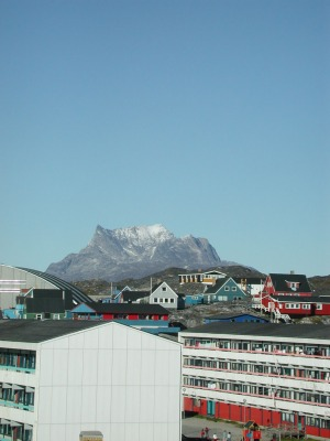 The Sermitsiaq mountain is a landmark around Nuuk. (PHOTO BY JANE GEORGE)