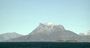 Sermitsiaq mountain, a landmark in Nuuk. (PHOTO BY JANE GEORGE)