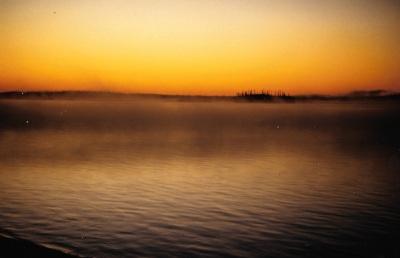 Dawn in Old Nemaska, September 1994. (PHOTO BY JANE GEORGE)