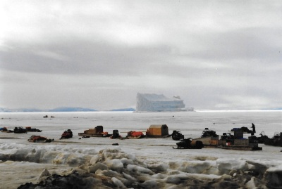 My goal: a huge iceberg. (PHOTO BY JANE GEORGE)