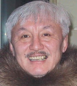 Piita Irniq, shown here in a handout photo after he become the first Commissioner of Nunavut.