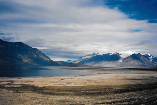 View down Tanquary Fiord, Ellesmere Island. (PHOTO BY JANE GEORGE)
