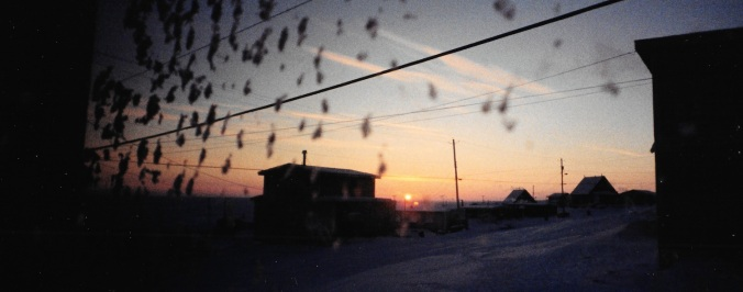 When the sun first rose above the horizon, I could see it from my room in Igloolik. (PHOTO BY JANE GEORGE)