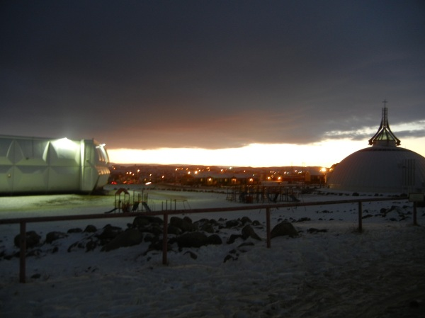 The sun sets in Iqaluit in November. (PHOTO BY JANE GEORGE)