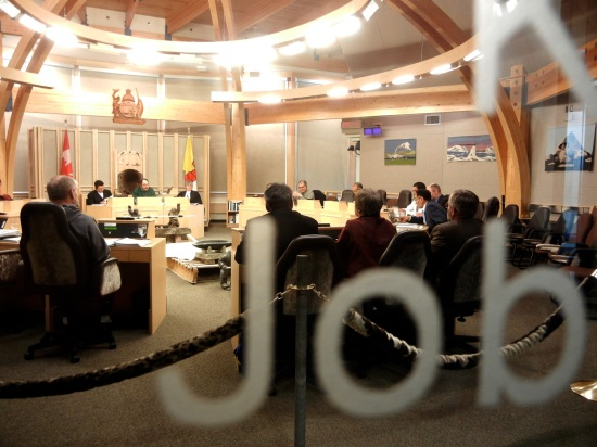 Looking into the Nunavut legislature. (PHOTO BY JANE GEORGE)