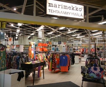 I worked in Marimekko clothing stores to improve my Finnish. (PHOTO BY JANE GEORGE)