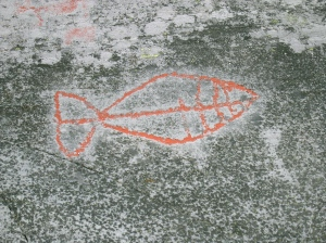 Rock art in northern Norway from the earliest inhabitants of the region. (PHOTO BY JANE GEORGE)