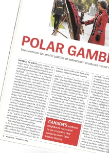 Polar Gambit, published Oct. 27, 2003 in Maclean's