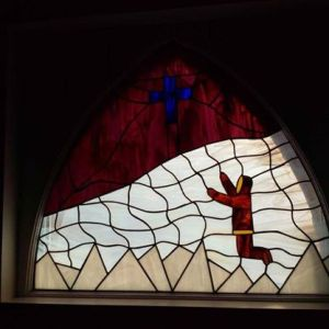 A stained glass window at St. George's Anglican Church. (PHOTO BY JANE GEORGE)