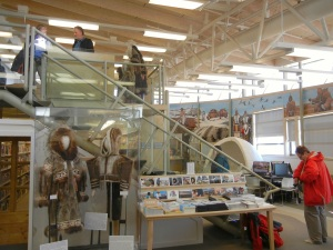 Cruisers take in the exhibits at the May Hakongak Community Library and Heritage Centre. (PHOTO BY JANE GEORGE)