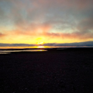Cambridge Bay's sunset on Sept. 21. (PHOTO BY JANE GEORGE)