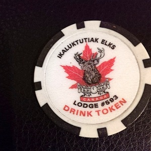 You use a drink token like this one at the Elks' bar. (PHOTO BY JANE GEORGE)