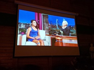 Ariel Tweto on David Letterman