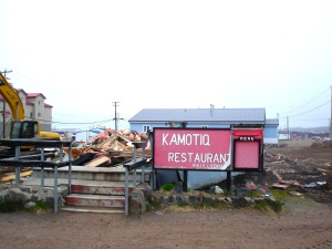 The Kamotiq Inn ended its career as a local watering hole and pizza place in 2008 when it was demolished to pave way for the Qomatiq building. (PHOTO BY JANE GEORGE)