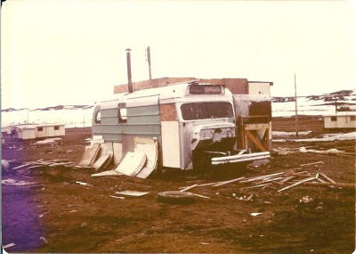 Dwelling like this one from a Facebook page on Frobisher Bay, now Iqaluit, are a thing of the past.