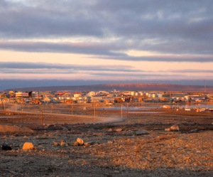 You can see Mt. Belly at sunset behind the town of Cambridge Bay, Nunavut. (PHOTO BY JANE GEORGE)