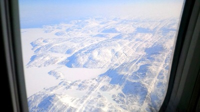 This is what I saw as we were approaching Iqaluit. (PHOT BY JANE GEORGE)