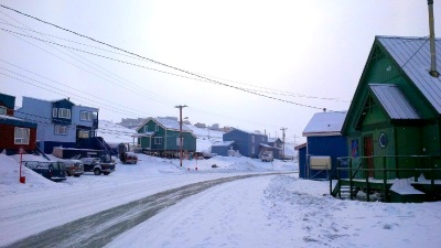 Happy Valley, Iqaluit, March, 2015. (PHOTO BY JANE GEORGE)