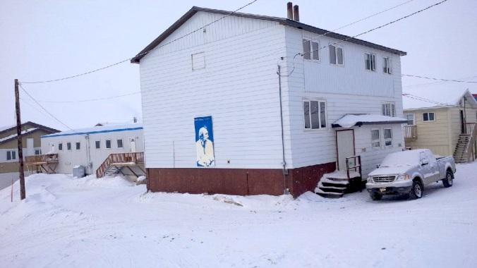 Charlie Adams as you walk towards Arctic Ventures. (PHOTO BY JANE GEORGE)