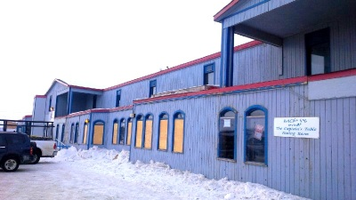 Not a lot of natural light these days at the Navigator in Iqaluit. (PHOTO BY JANE GEORGE)