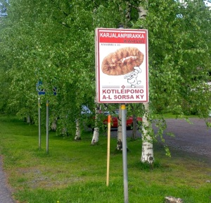 If you want to buy Karelian patties, here's the place: but it still helps to know what the Finnish says. (PHOTO BY JANE GEORGE)
