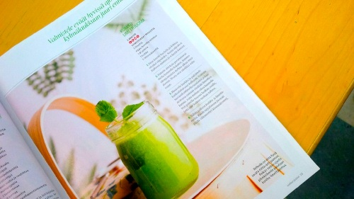 Mint, lime, cucumber drink is a find from a Finnish magazine. (PHOTO BY JANE GEORE)